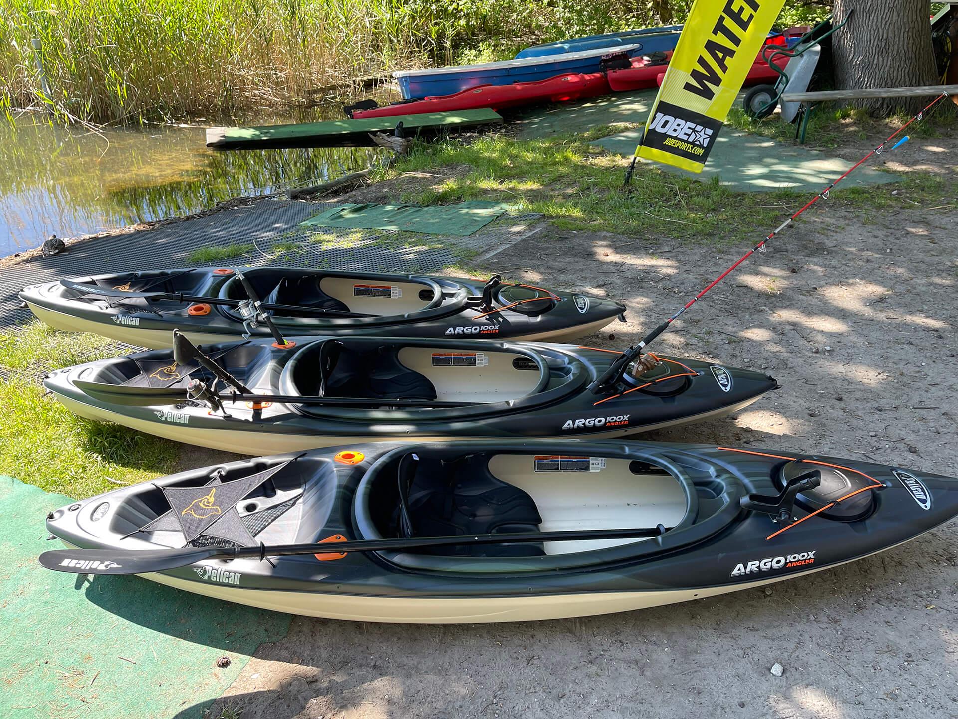 Angler Kajak Pelican des Bootsverleih Boat4All Berlin